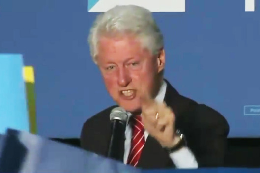 BILL CLINTON UNLEASHES ON PROTESTERS