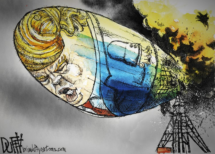 GOP Officials Jumping Off Trump Hindenburg