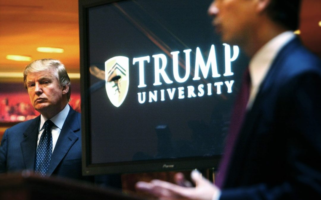 Trump Flips & Settles Trump U Case