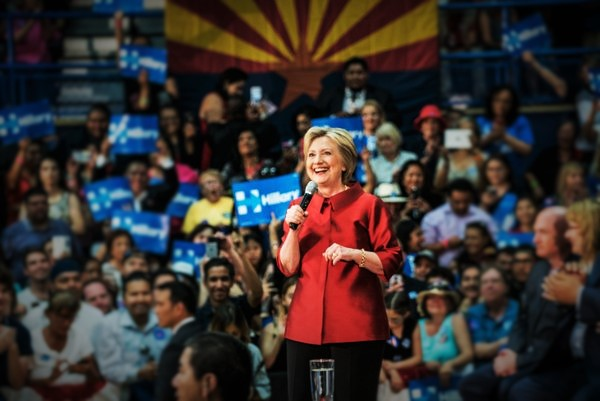 Clinton Takes The Lead In AZ