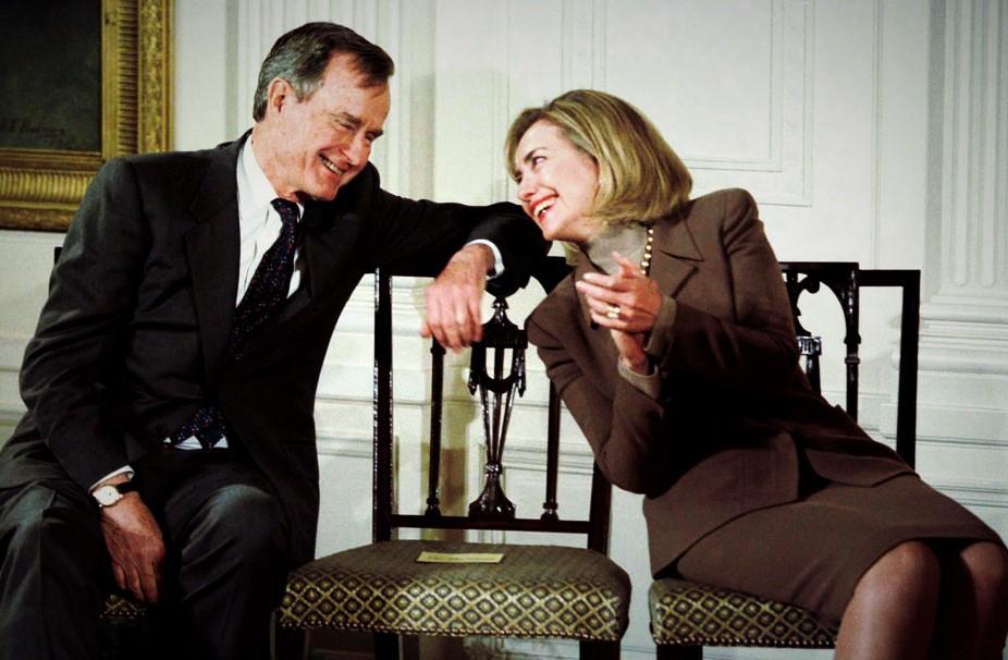 President Bush Backs Hillary Clinton