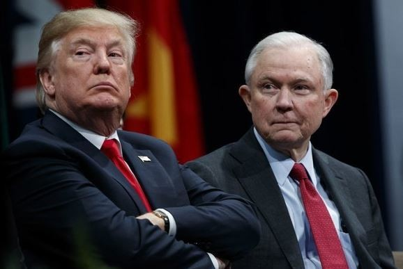 Trump & Sessions Take Aim At Each Other
