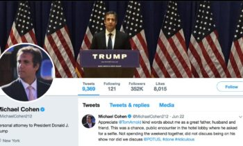 Cohen Tweets Praise For Himself As He Reportedly Sings To Mueller About Trump's Russia Cash