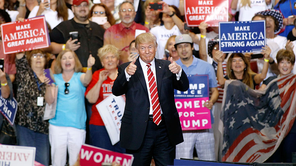 "Trump To Campaign In 8 States Over Next 8 Days – Just Call Him ""Campaigner In Chief"""