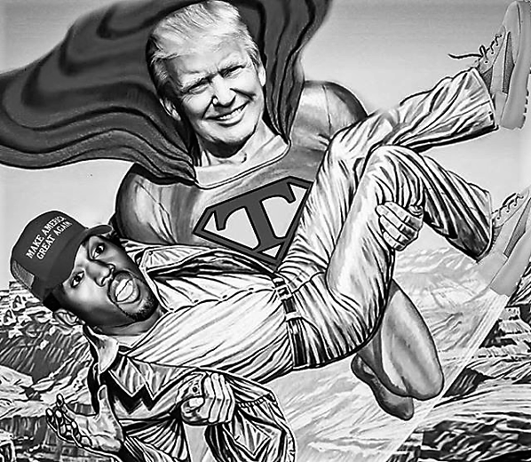 """50 Cent Taunts Kanye Over Meeting With """"Master Trump"""""""