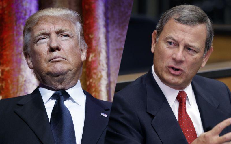 Image result for Images of John Robert vs Trump