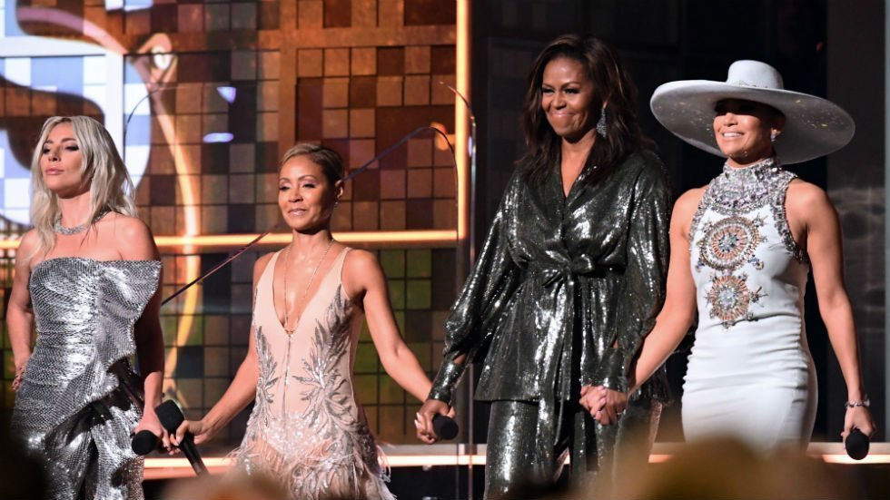 GRAMMYS: Michelle Obama Joins Lady Gaga, Jennifer Lopez & Jada Pinkett Smith In Surprise Appearance - Jim Heath TV