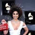 "GRAMMYS: Singer Shows Up In Barbed Wire ""Build The Wall"" Dress Holding MAGA Bag"