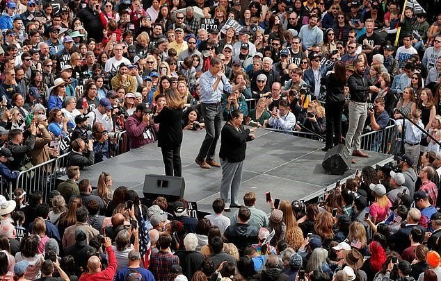 ELECTION 2020: Beto O'Rourke Takes It To Trump At Rally On US/Mexico Border