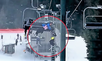 WATCH: 8 Year Old Boy Drops From Ski Lift – Quick Thinking Teens Save The Day
