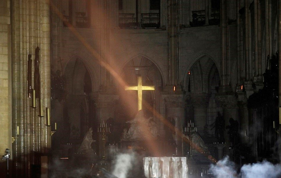 Notre Dame Cathedral Stands But Severely Damaged - Millions