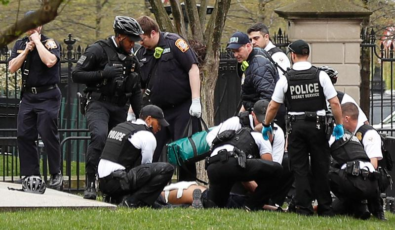White House Put On Lockdown After Man On Scooter Sets Himself On Fire