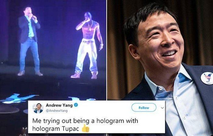 ELECTION 2020: Polling low, Andrew Yang Now Plans To Use 3D Hologram Of Himself
