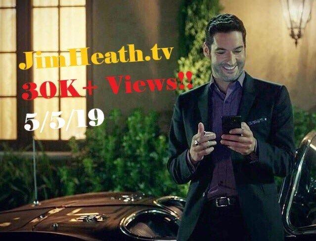 Lucifer Himself – Tom Ellis – Acknowledges JimHeathTV After Record Smashing 30K Views