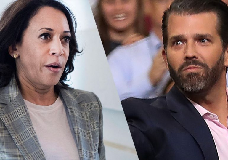 ELECTION 2020: Democrats Rally Behind Harris After Trump Jr. Tweets, Then Deletes, Racist Attack