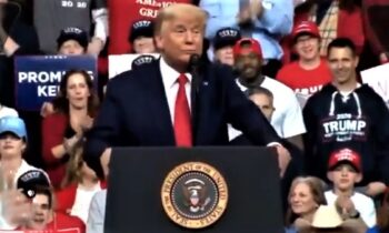 "Trump Fans Scream ""Lock Her Up"" At Latest Rally – This Time Aimed At Pelosi, Not Clinton"