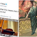 Trump Winks At Right-Wing Q Conspiracy While Tweeting Nero-Like Picture