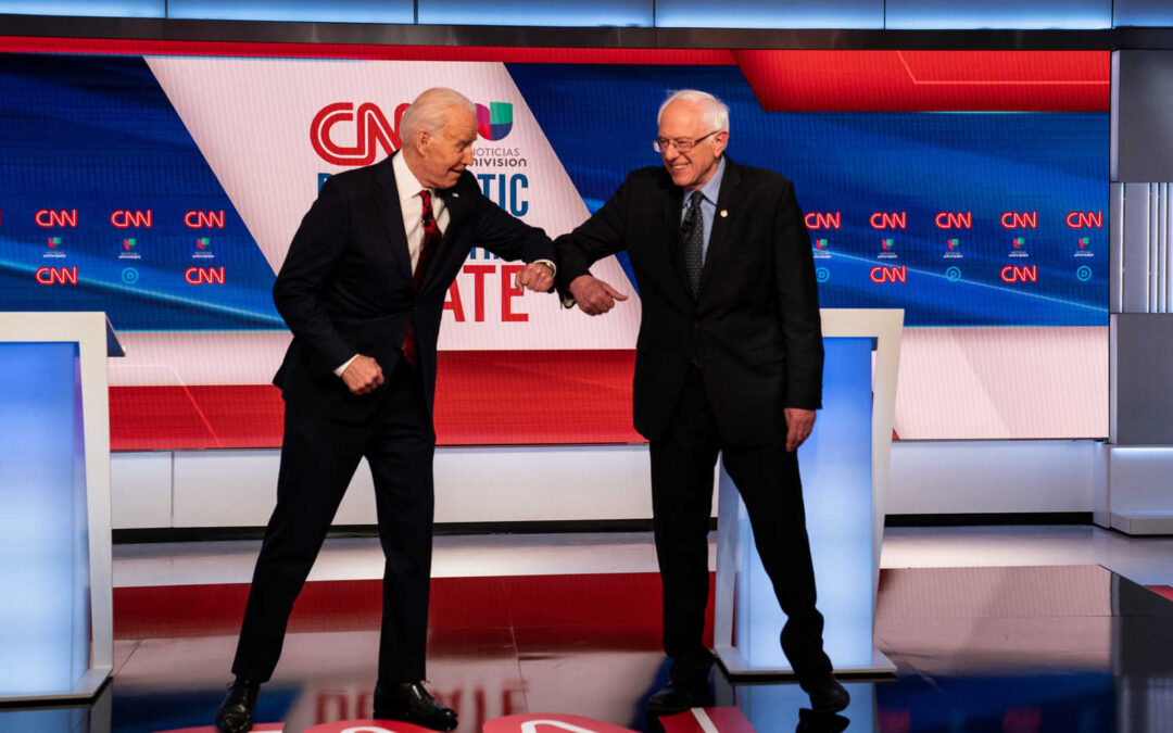 Biden Commits To Choosing A Woman As His VP During Debate With Sanders
