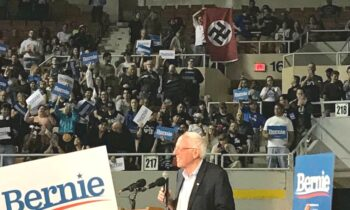 Nazi Flag Unfurled At Sanders Rally In Phoenix – White Nationalist Identified