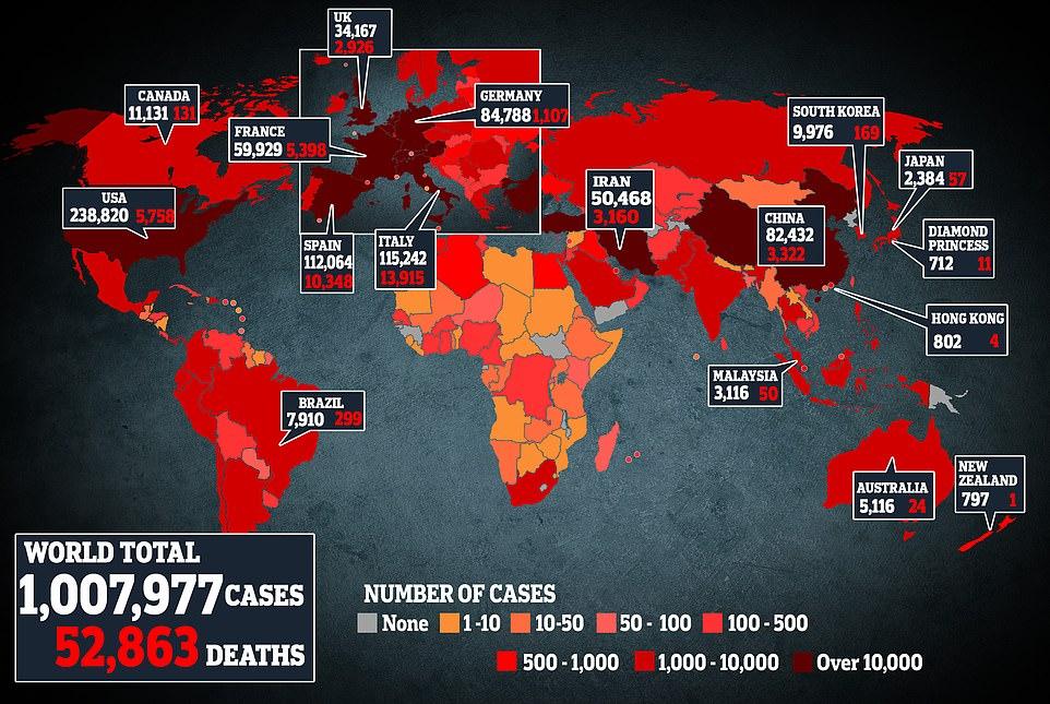Coronavirus Cases Hit 1 MILLION Worldwide – Pandemic Explodes In U.S.
