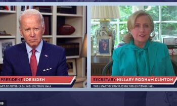 Clinton Backs Biden: 'Imagine If We Had A Real President, Not Just Somebody Who Plays One On TV'